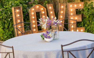Centros de mesa para una boda rustic chic